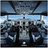 Airbus A380 Cockpit Square Poster