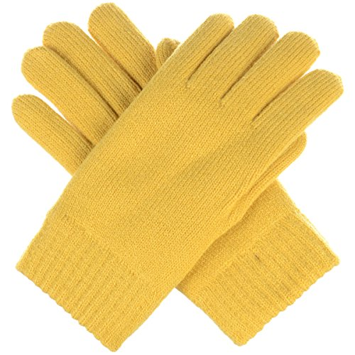 (BYOS Winter Womens Toasty Warm Plush Fleece Lined Knit Gloves, 14 Solid Colors)