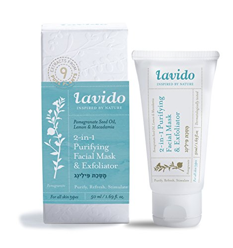 Lavido 2 in1 Pomegranate Seed Oil, Lemon, and Macadamia Gentle Exfoliator Cream and Mask - Company Oyster