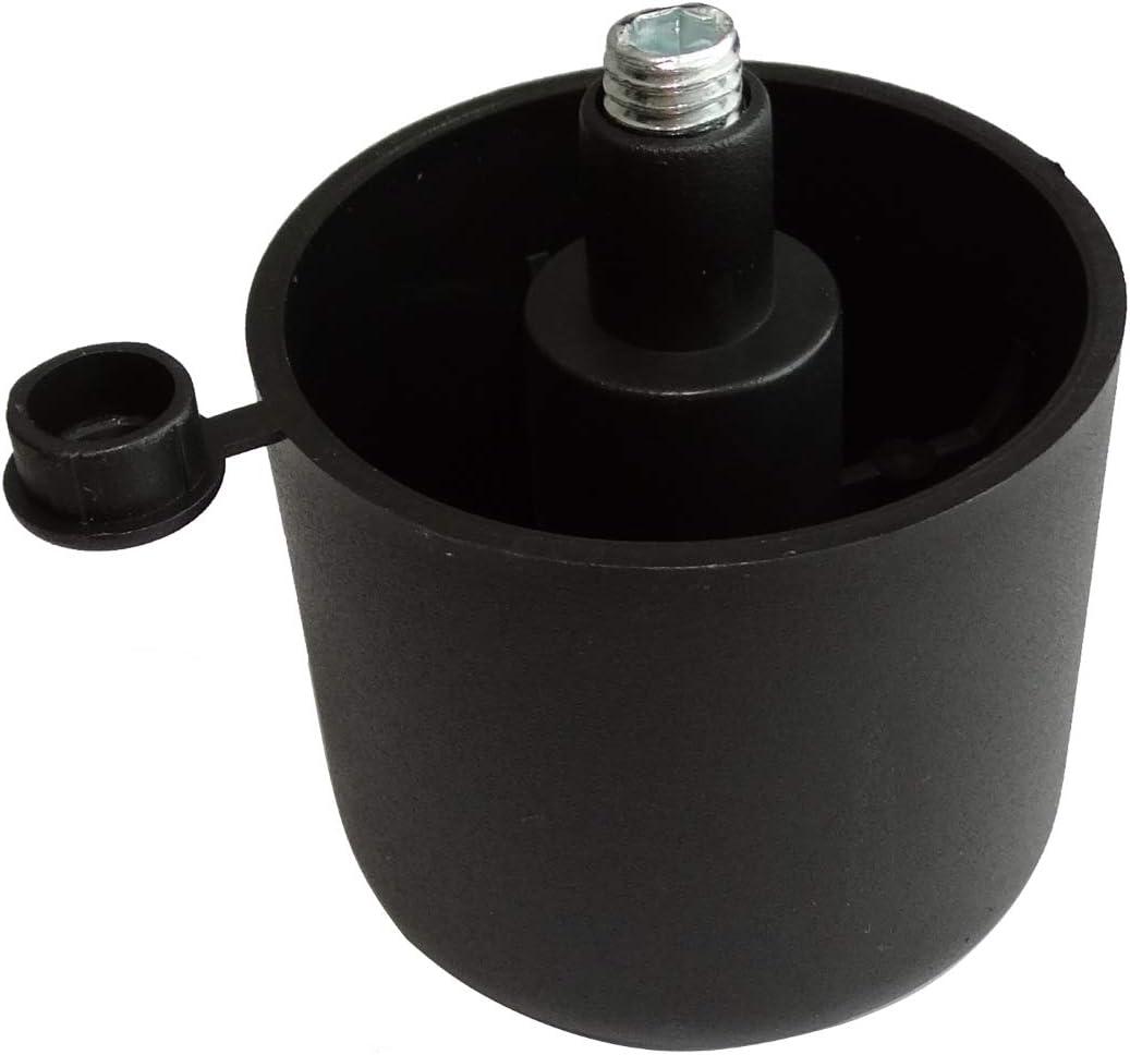 10x Patas de resorte ajustables regulables para muebles de encajar /Ø50mm negro Altura: 27mm. AERZETIX