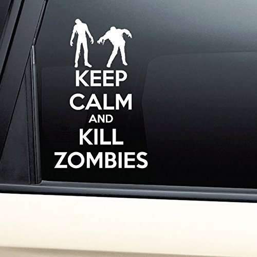 Keep Calm and Kill Zombies Vinyl Decal Laptop Car Truck Bumper Window Sticker