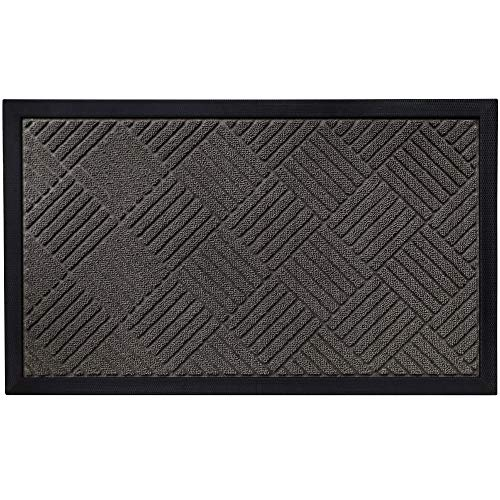 Gorilla Grip Original Durable Natural Rubber Door Mat, Heavy Duty Doormat for Indoor Outdoor, Waterproof, Easy Clean, Low-Profile Rug Mats for Entry, Busy Areas