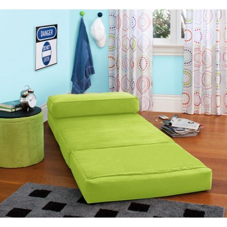 Your Zone Contemporary Unisex Converts into a bed Flip Chair Perfect for any room, Apartment or Small space, Available in many colors and designs - Green Glaze
