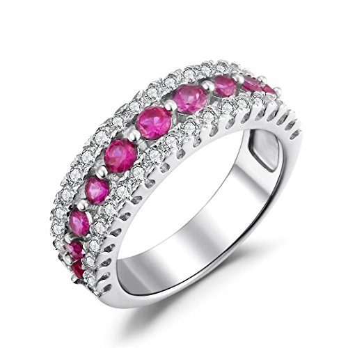 Caperci-Womens-Sterling-Silver-Cubic-Zirconia-and-Created-Pink-Sapphire-Wedding-Band-Ring