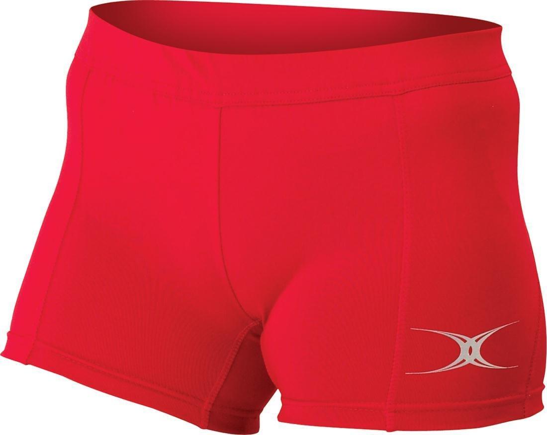 Eclipse II Gilbert NetballスポーツレディースElastic Waistband Shortsサイズ6 – 20 B06XYRWQPR 20|レッド レッド 20