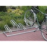 Fahrradständer, Modell Nil, Stahl verzinkt, einsei tig, 5er-Stand, Radabst. 300 mm, Gesamtl. 1500 mm