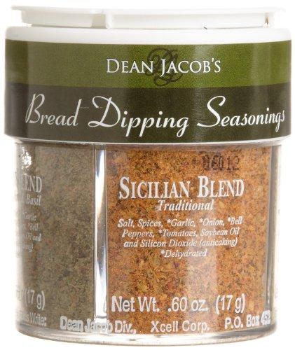 Dean Jacobs 4 Bread Dipping Seasonings, Regular, 2.4-Ounce Jars (Pack of 12)