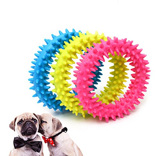 Chuckit Plush Ball (Puppy Pets Dogs Rubber Toys for Small Dogs Chew Ring Play Toy Pet Supplies Dogs Resistance To Bite Teeth Pet Training Products)