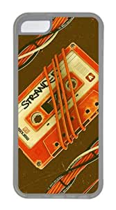 Customized Case Creative Illustration tapes TPU Transparent for Apple iPhone 5C
