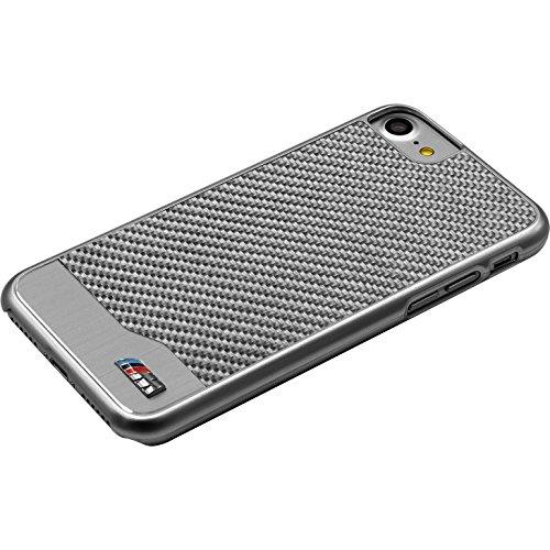 BMW Coque carbone & aluminium pour Apple iPhone 7, Argent