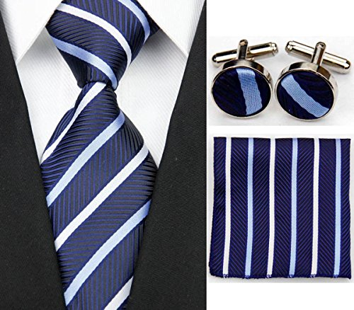 Navy Blue Square Cufflinks - 8
