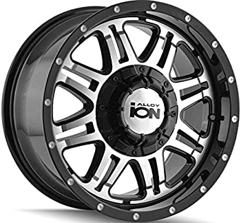 """Ion Alloy Style 186 Black Wheel with Machined Face (16x8""""/5x114.3mm)"""