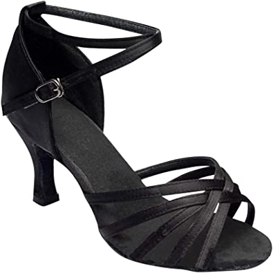 Womens Summer Latin Tango Dance Shoes Heel Salsa Sandals Party Strappy Shoes New