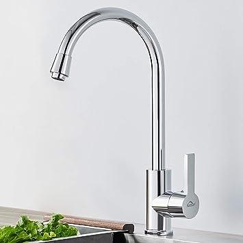 Auralum Klassische Küchenarmatur aus Edelstahl, Wasserhahn Küche
