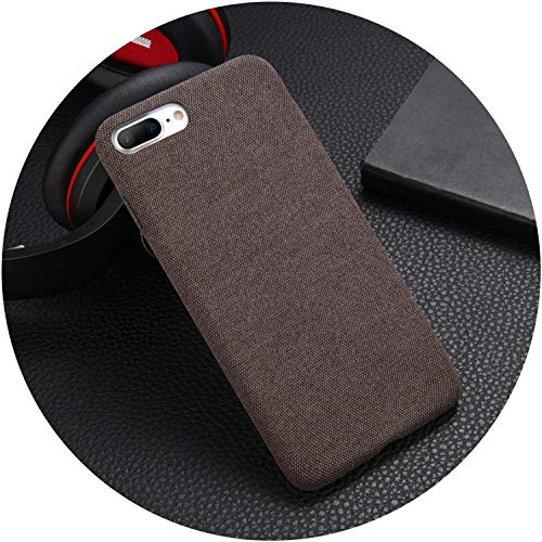 Plush Fabrics Phone Case for Apple iPhone X 8 7 6s 6 Plus for XR XS Max Warm Plush Fashion Soft Back Cover Cases Gift,Coffee,for iPhone Xs Max ()