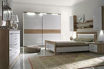 Design Luxus Schlafzimmer Set Stilmöbel Edelholz Komplett Weiß Eiche ...