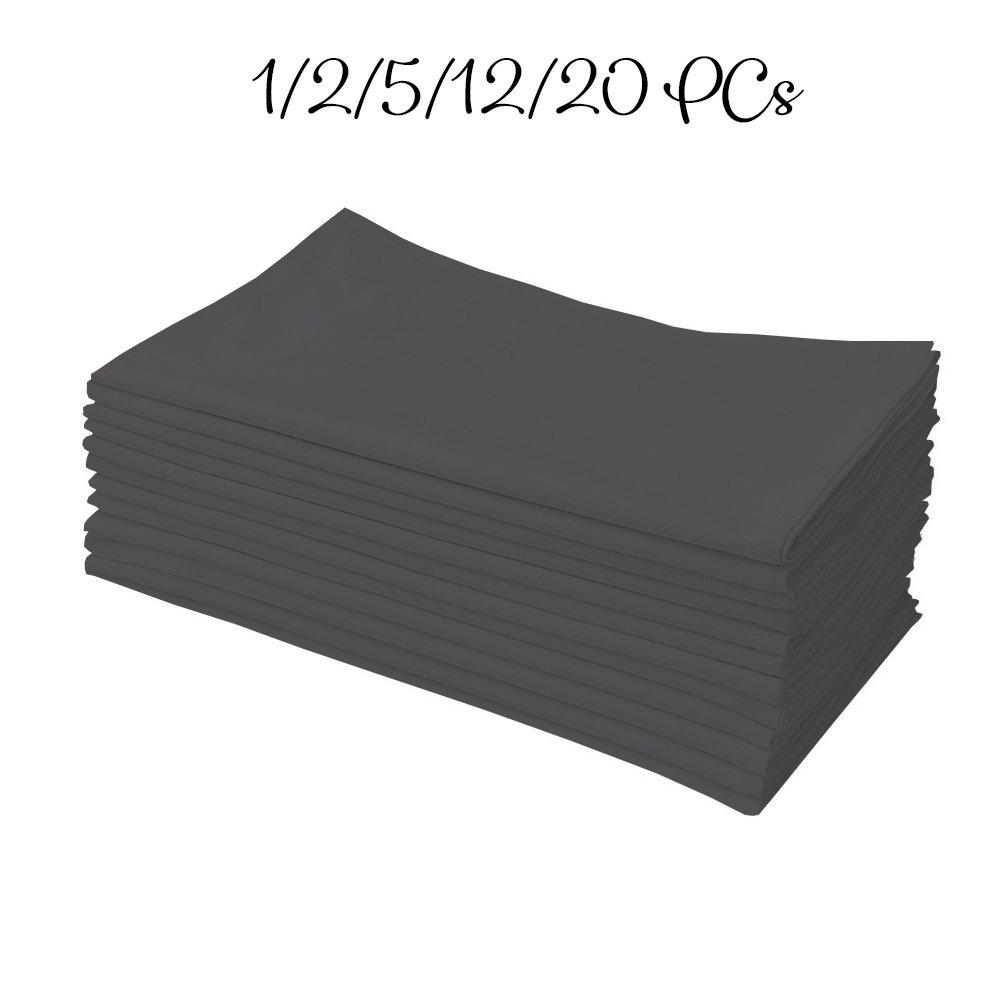 1 QTY Men's Handkercheifs 100% Cotton Dark grey soild by American Club