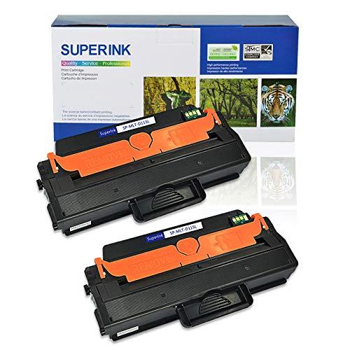 SuperInk 2 Pack Premium High Yield Toner Cartridge Compatible Samsung MLT-D115L 115L MLT-D115S Work with Smasung Xpress SL-M2830DW SL-M2870FW M2880FW M2620 Printers ()