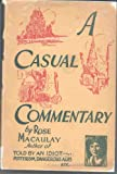 img - for A Casual Commentary book / textbook / text book