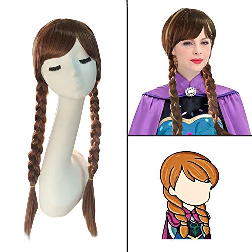 Princess Brown Double Braids Cosplay product image