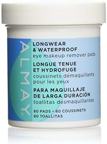Almay Longwear & Waterproof Eye Makeup Remover Pads, 80 Counts