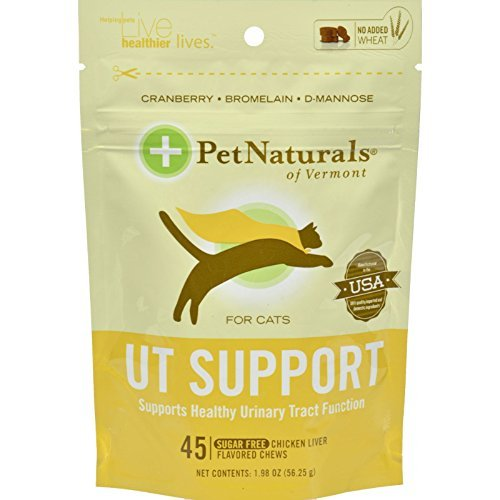 - Pack of 4 x Pet Naturals of Vermont UT Support for Cats Chicken Liver - 45 Soft Chews by Pet Naturals of Vermont