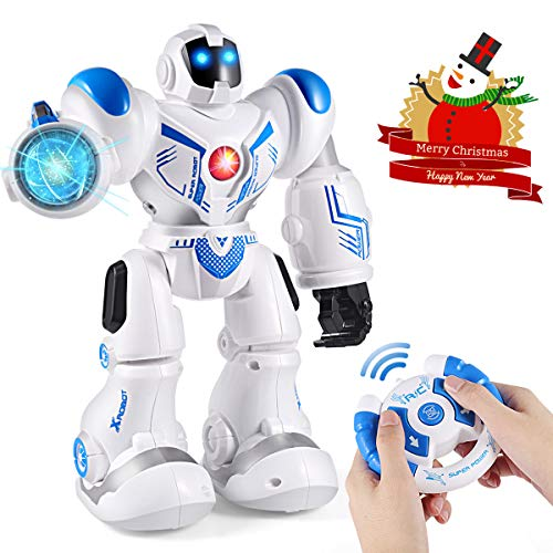 FITMAKER Smart RC Robot Toys Remote Control Robots Smart Programmable Robotics with Five Modes for Kids Present