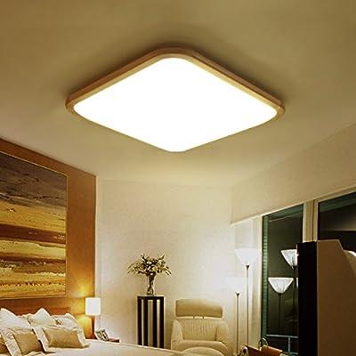 LQXZM-_ lamparas iluminacion LED Lamparas LED Lamparas de techo de madera rectangular simple nuevo chino iluminación madera dormitorio living,La luz blanca ...