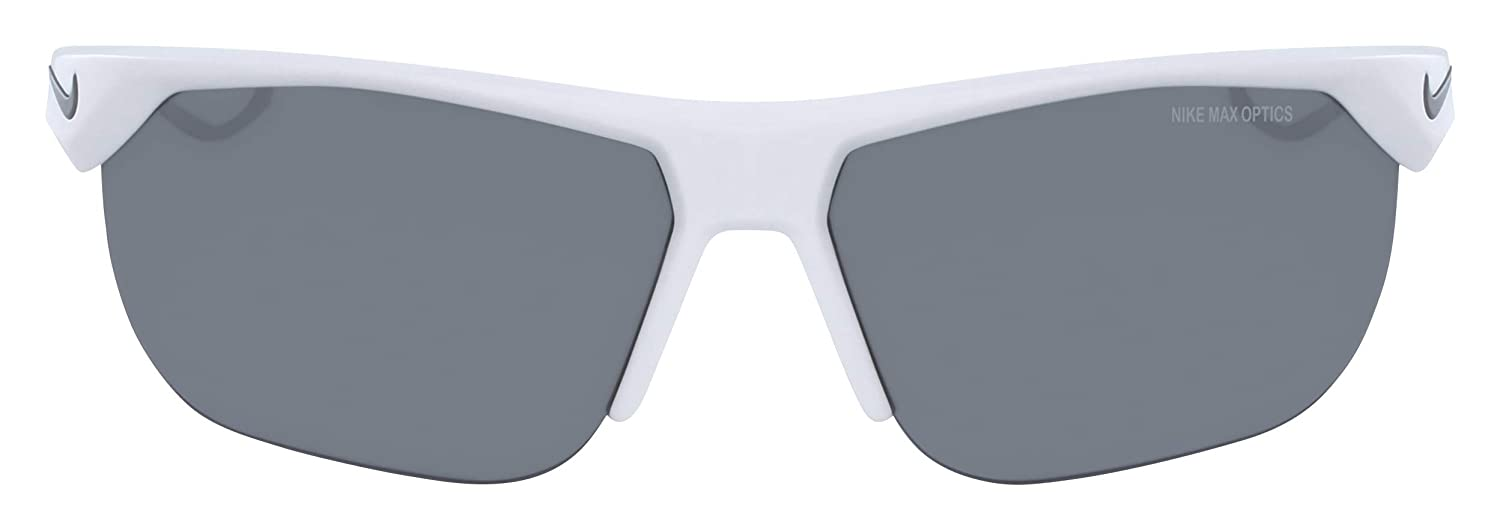 White//Cool Grey 63 mm Nike Mens Trainer S Square Sunglasses