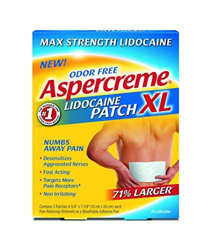 Aspercreme Lidocaine Patch XL, 3 Count (Pack of 2) (Lidoderm Lidocaine Patch)