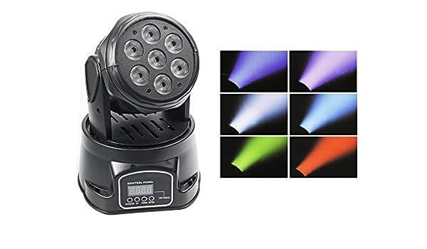 Cabeza Móvil LED RGB giratoria proyección Strobo función DMX 9/14 ...