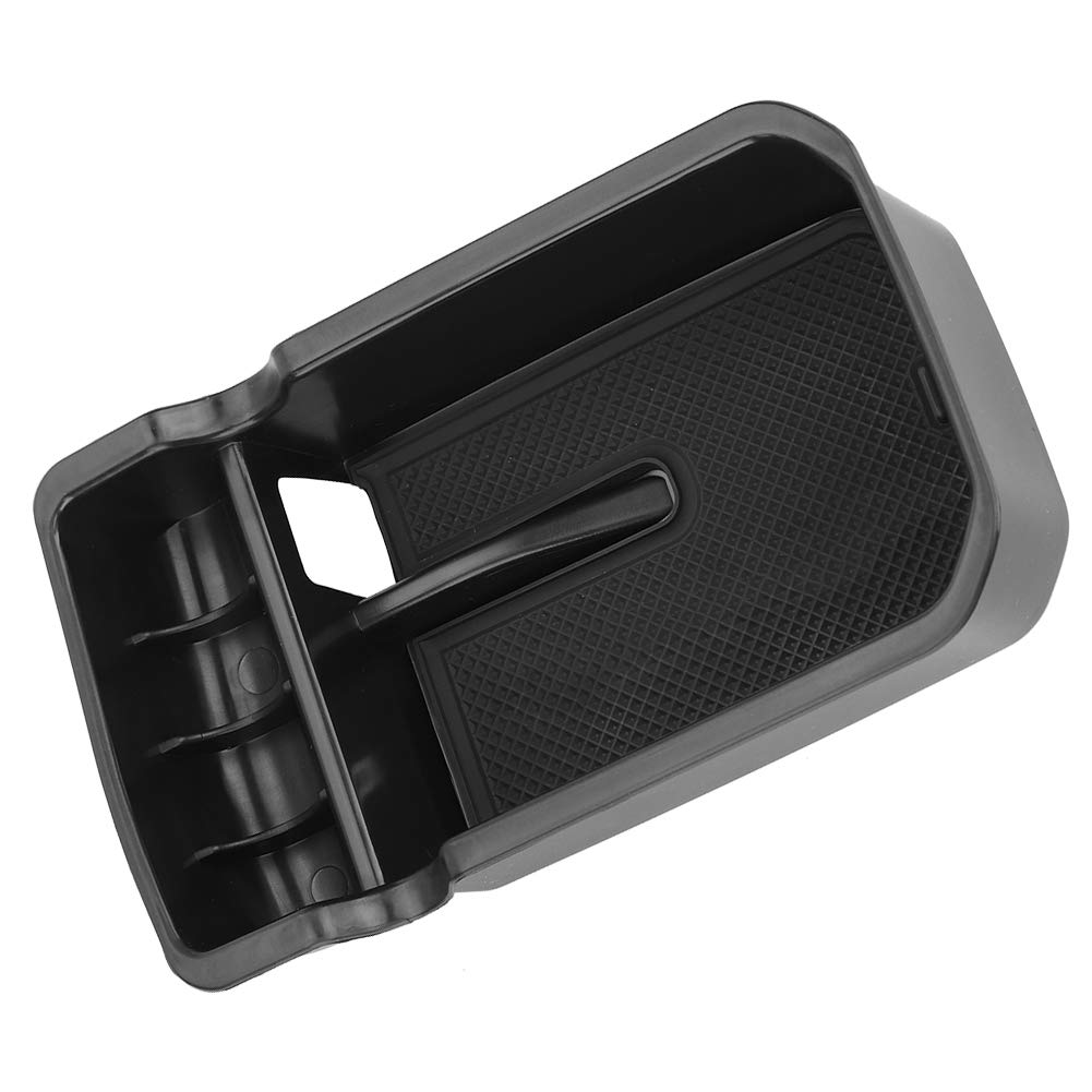Acouto Black Car Center Console Armrest Storage Box Organizer Glove Phone Box Tray for Jeep Compass 2017