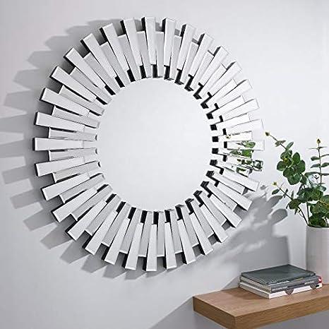 Furniturebox Uk Starburst Small Large Silver Stylish 3d Circular