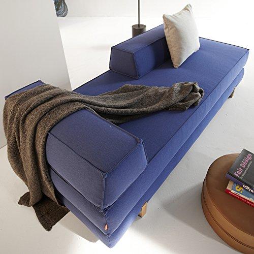 Innovation Schlafsofa DB Drip Eiche Idouble Wood Textil saphirblau
