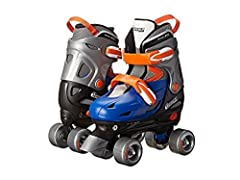 Quad Skates are the most recognizable and popular skate on the market. For the beginner, Chicago Skates offers the multi-adjust boot that grows with the child as they hone their skating skills. No need to change skates year after year. Once t...