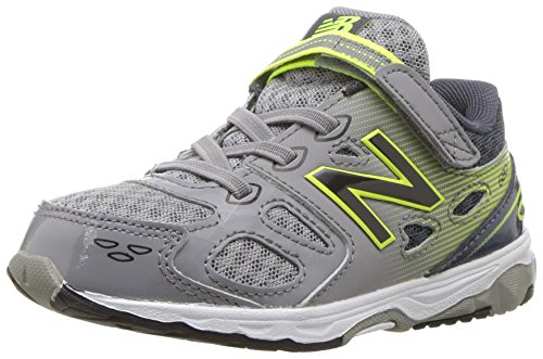 New Balance Boys' 680 V3 Running Shoe, Grey/Hi-Lite, 2 M US Little Kid (New Shoes For Boys)
