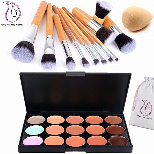11pcs/set Bamboo make up brush tool kit - 3