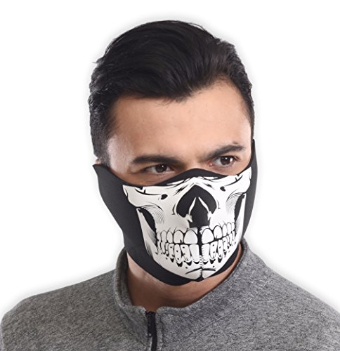 Neoprene Ski Mask - Tactical Winter Face Mask - Perfect for Skiing, Snowboarding & Motorcycling - Neoprene Motorcycle Face Mask