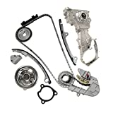 nissan altima 2003 oil pump - Timing Chain Kit with Water Pump & Oil Pump for 2002-2006 Nissan Altima Sentra SE-R 2.5L L4 16V DOHC QR25DE Engine