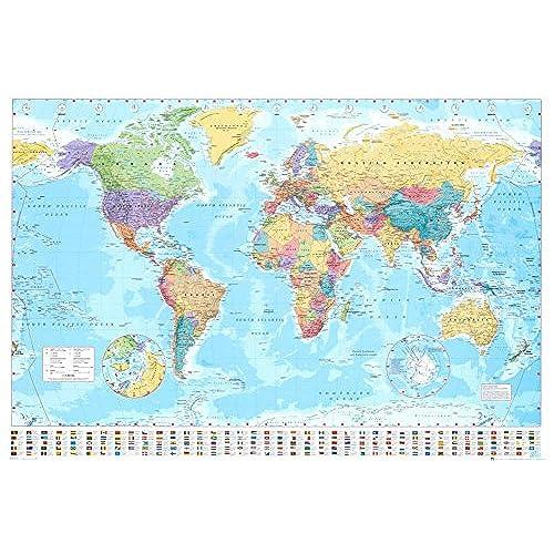 World Map Amazoncom - World map of the us