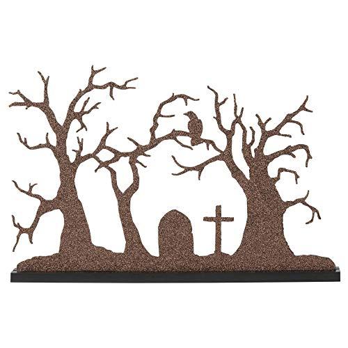 Halloween Tree Silhouette (Department 56 Village Collections Accessories Halloween Silhouette Tree Figurine,)
