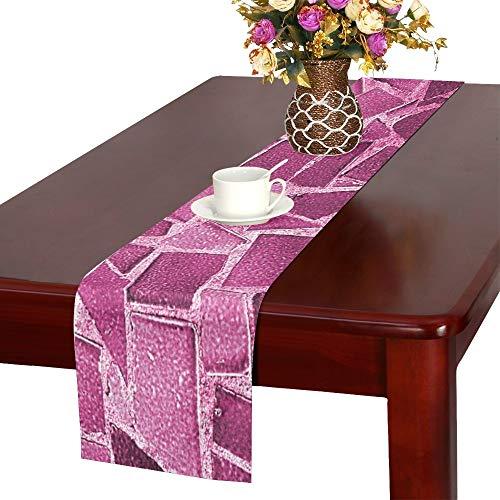 Floor Ceramic Tile Flooring Interior Home Design Table Runner, Kitchen Dining Table Runner 16 X 72 Inch For Dinner Parties, Events, ()