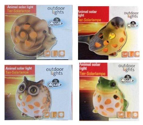 "ALSS Outdoor Solar Lights Ceramic Pottery Animal "" Bird "" High Warmlight Output LED Path And Garden Lights"