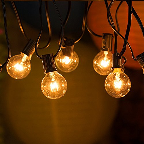 54% OFF! DeepLite 25ft Ambiance String Lights with G40 Globe Bulbs, Extendable Indoor & Outdoor ...