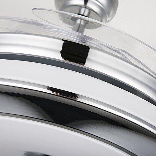 RS Lighting Best Ceiling Fan European Luxury Telescopic Fan Lights LED Ceiling Fan Chandelier for Living Bed Restaurant Room-Chorme by RS Lighting (Image #2)