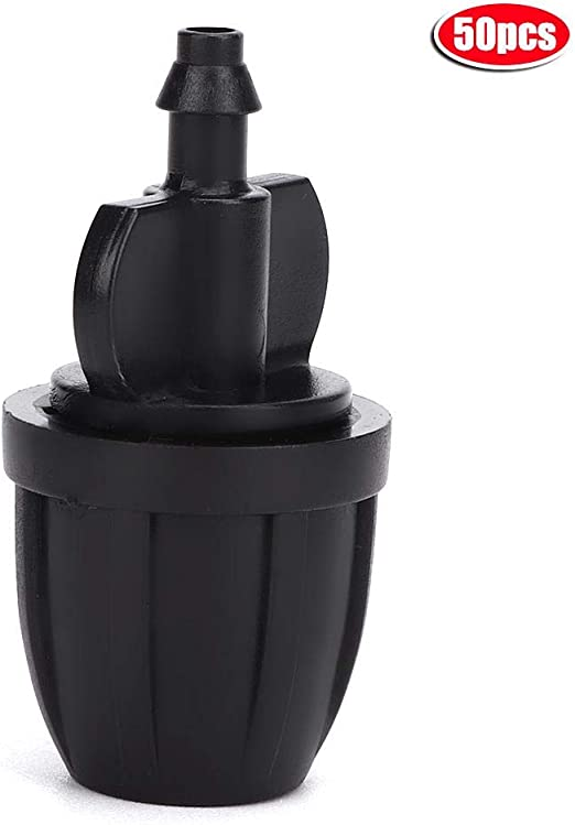 Fdit 50Pcs Negro Dispositivo de riego automático Accesorios de riego Conector de jardín 8/12 a 4/7 Manguera Conector Recto de Agua con Cerradura Accesorios de jardín de riego: Amazon.es: Hogar