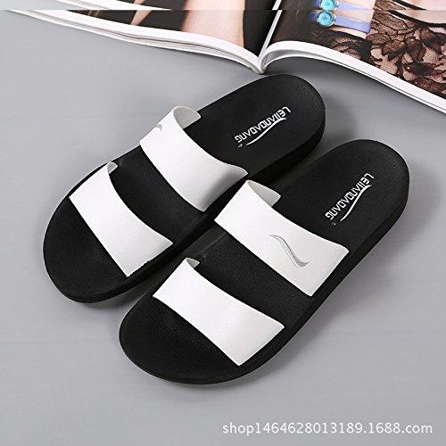 Semelles Red Mode Coréenne HONG Version Sandales Nouveau Femelle Et épaisses Des Antidérapantes Et Sandales Pantoufles 37 à White élastiques 39 D'été Des Pantoufles Et Pantoufles JIA Confortables Mâle xXSdvHnHq