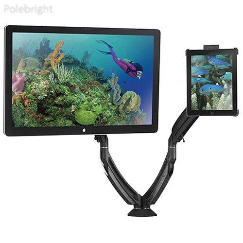 Chief K1D220BXI2B Kontour iPad Mount Kit with Dynamic Desk Clamp Mount & Portable iPad Interface Bracket (Black) by BlueTECH