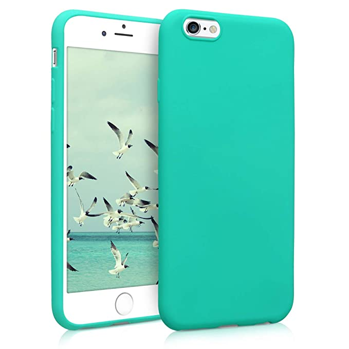 kwmobile TPU Silicone Case for Apple iPhone 6 / 6S - Soft Flexible Shock Absorbent Protective Phone Cover - Neon Turquoise