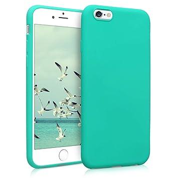 kwmobile Funda para Apple iPhone 6 / 6S - Carcasa para móvil en TPU Silicona - Protector Trasero en Turquesa neón
